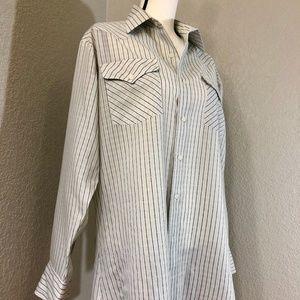 Vintage Striped Panhandle Slim Button Down